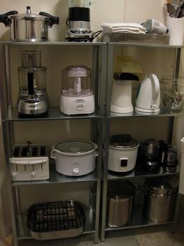 調理器具,収納,棚,ミキサー,圧力鍋